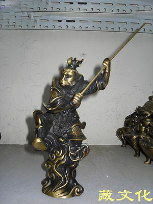 Brass Chinese Myths story Journey to the West Protagonist Monkey King old Statue