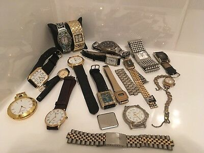 Large Mixed Job Lot Of Watches Wear Spare & Repairs