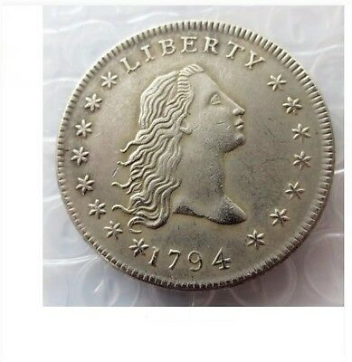 1794 U.s Flowing Hair Liberty Dollar Double Sided Heads Trick Magic Novelty Coin