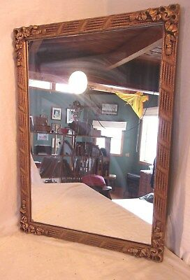 Antique victorian frame with mirror 20 1/2 x 28 1/2  mirror 26x18  molding 1 1/2
