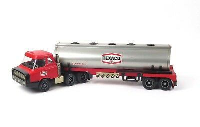 Texaco tanker truck toy Republic Tool tin plastic vtg dealer promo