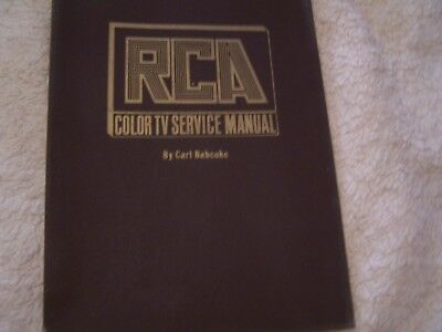 Vintage 1969 RCA Color TV Service Volume 1 by Carl Babcoke