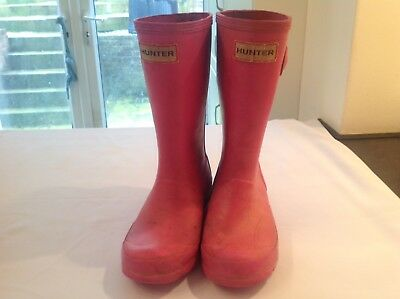 Girls Hunter Pink Wellies Size Uk 12 Used HUNTER WELLIES SIZE 12 USED