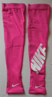 Nike Graphic Pro Women's Arm Sleeves Hot Pink/White Size XS/S New