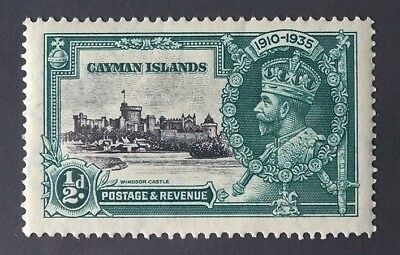 1935 Cayman Islands Silver Jubilee Windsor Castle 1/2 d (perfect condition)