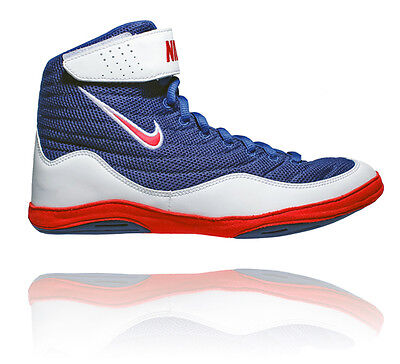 Nike Inflict 3 Mens Wrestling Shoes Deep Royal / University Red / White
