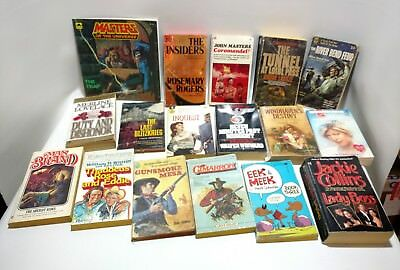 Lot of Assorted Vintage Books, Westerns, Fiction, More
