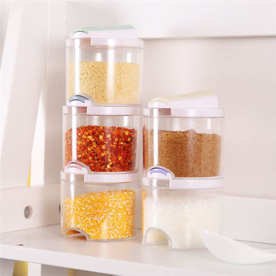 5PCS Home Seasoning Spice Cans Bottles Kitchen Jars Boxes Container Boxes