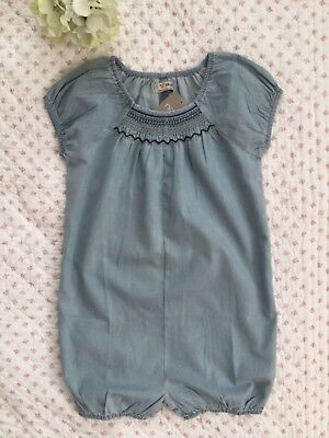 *NEW* Next Summer Playsuit Romper. Age 3-4.  Chambray Blue