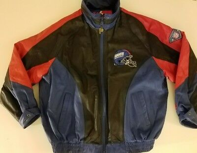 sports shoes 58798 c9a5d VINTAGE NEW YORK GIANTS PRO PLAYER by Daniel Young NFL Leather Jacket XL  CLEAN