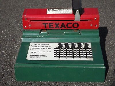 Vintage large Texaco Service Station Credit Card imprinting register