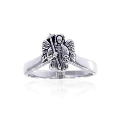 SIGIL OF THE Archangel Samael  925 Sterling Silver Ring Set by Peter