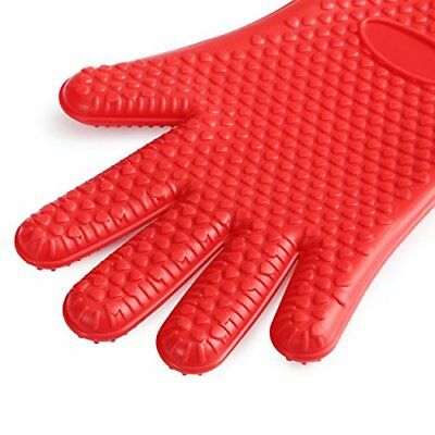 Harima - Heat Resistant Protective Silicone 5 Finger Oven Mitt Gloves with Non-S