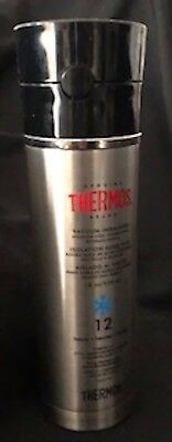 Thermos Sipp Vacuum Insulated Drink Bottle 16 oz. Stainless Steel/Black NS402BK4