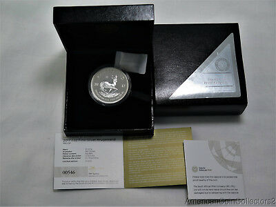 2017 KRUGERRAND PROOF 1oz SILVER COIN 50th Anniversary Privy Mark S Africa|0180