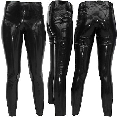 Rauchgraue Latex Leggings Gr. M