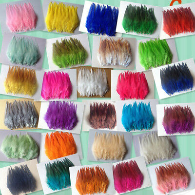 DIY HOT! Beautiful 50pcs rooster tail feathers 10-15cm/4-6inch 30 Colors