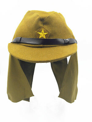 WWII Japanese Army Soldier Field Hat  Neck Flap Woolen Cloth Cap