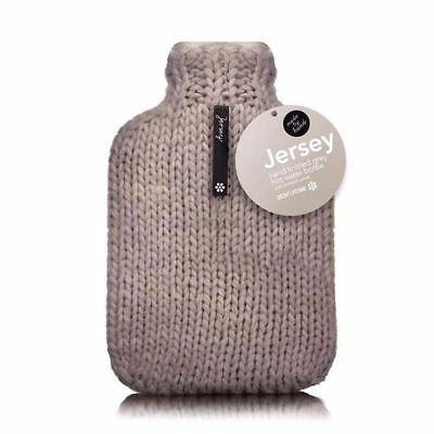 New Jersey 2 Liter Hot Water Rubber Bottle with Handmade Covers Winter Warm Grey