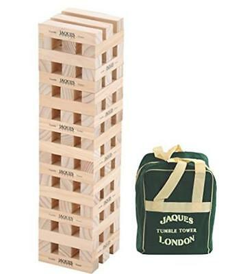 Giant Tumble Tower Jenga Game Over 3Ft Tall Solid Wooden Blocks Hand Finished