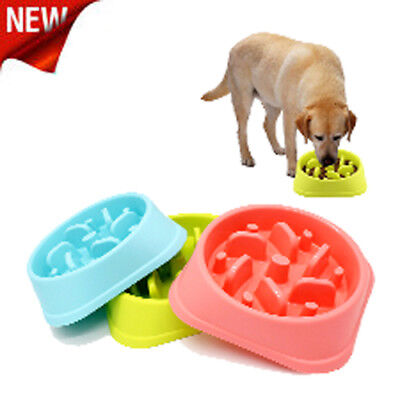 Fun Slow-Bowl Slow Feeder  Feed Interactive Bloat Stop Dog Bowl, Large 3 Color