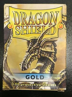 Dragon Shield - Gold 100 Protective Sleeves Cases Standard Card Holder Magic MTG