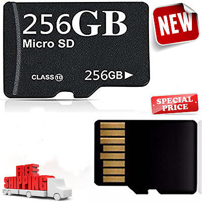 256GB Micro SD Memory Card Android Camera Smart Phone Adapter Class 10 Speed