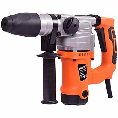 Electric Rotary Hammer Drill 1-1/2-Inch 1000W SDS Chisel Bits Demolition Kit hea
