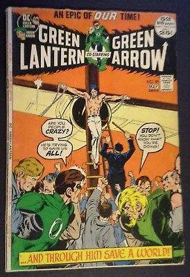 Green Lantern #89 (Apr-May 1972, DC) *Crucifixion Cover*  Green Arrow
