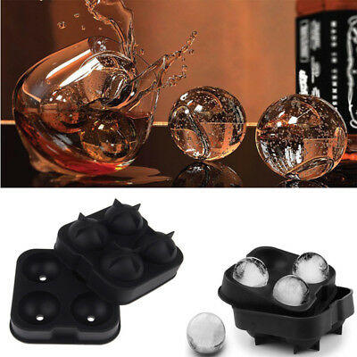 ICE Balls Maker Mold Round Sphere Tray Cube Whiskey Ball Cocktails Silicone