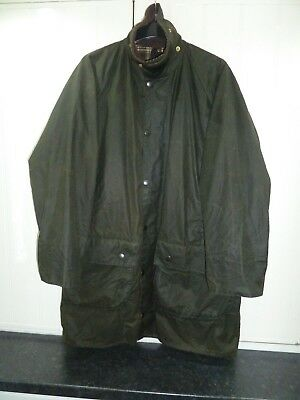 """Men's Olive Green Waxed Gamefair Jacket by Barbour in Size 40"""" 102cm"""