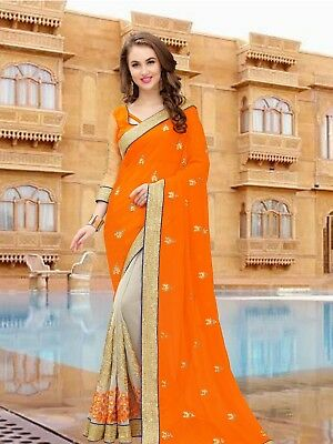 pakistani Bollywood indian designer saree colorful sari fancy traditional nv2