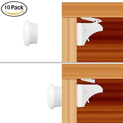 10X Magnetic Baby Child Kids Proof Cupboard Cabinet Drawer Door Safety Lock NEW