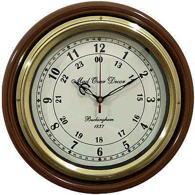 Antique Vintage Collectible Brass Buckingham 1837 Nautical Marine Wall Clock