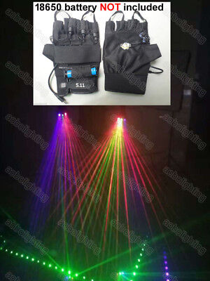 Rechargeable Led Laser Beam Light Gloves Party club Multi beam stage laser glove