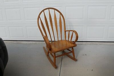 Solid Wood Rocking Chair Made In Yugoslavia