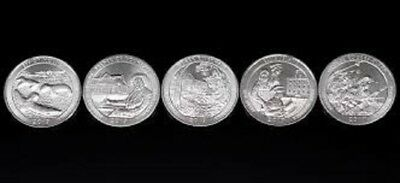 2017 P D 10 National Park America the Beautiful P D Quarter Set ~ 10 Unc Coins