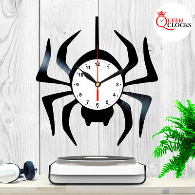 Spider Vinyl Record Wall Clock Exclusive Kids Birth Day Gift Baby Nursery Decor
