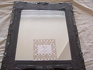 Antique Look Ornate Mirror In Assorted Colour Black Or White.
