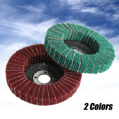 Abrasive Brush Wheel Polishing Sanding Disk Fiber Buffer Auto Rotating Pad