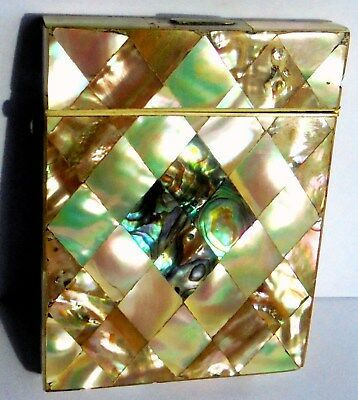 Victorian Mother of Pearl and Abalone Card Case.