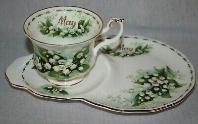 Royal Albert ' Flower Of The Month  ' Tennis Set - May