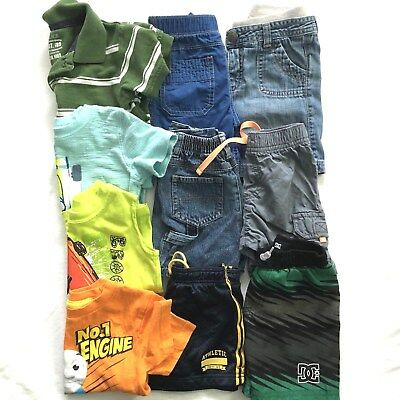 Boys Size 18-24 Months Lot Of Spring Summer Clothes Short Sleeve Tops Shorts