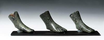 Set of 3 Roman Bronze Furniture Feet Lot 90
