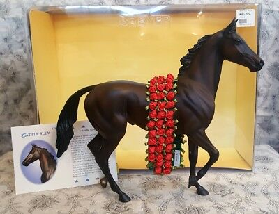 Breyer Seattle Slew 25th Anniversary Triple Crown  Lonesome Glory w/ Roses & Box