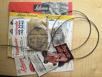Vintage Schuco instructions leaflet (6) & wires (7).