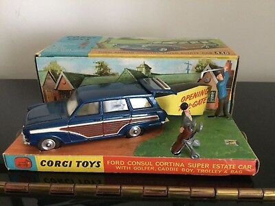 Corgi Toys 440 Ford Consul Cortina Golf set.