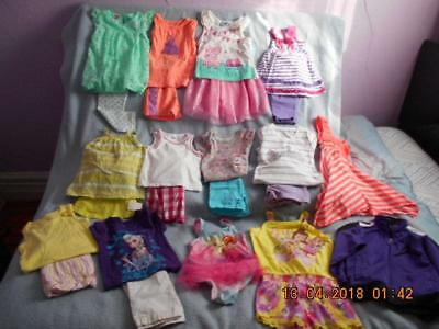 24 Pc Mixed Lot Girls Size 4-4T Used Summer Clothing (6 are nwt)