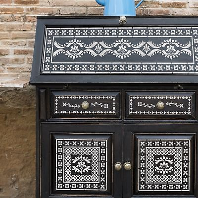 SATARA Indian Inlay Set of 5 Furniture Wall Floor Stencil for Painting