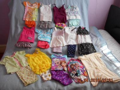 25 Pc Mixed Lot Girls Size 4-4T Used Summer Clothing (4 are nwt)